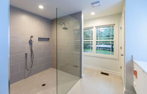 Master bathroom large walk in shower