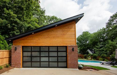 Pool house or garage/pavilion.