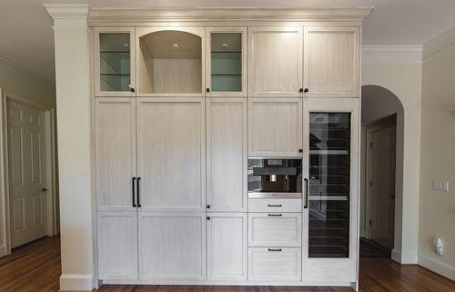 Kitchen remodel built in wine cooler