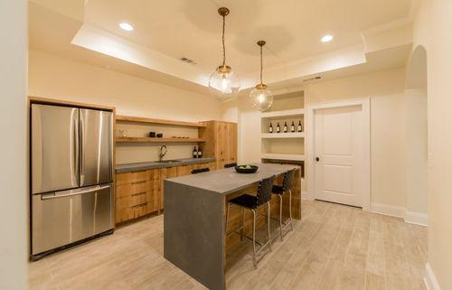 Kitchen remodel rustic oak