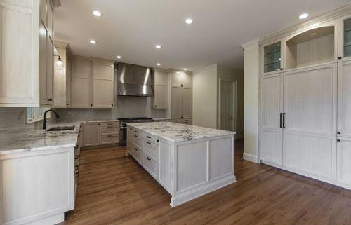 Kitchen remodel hidden refrigerator