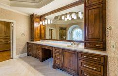 Master Bathroom vanity remodel, wood cabinets