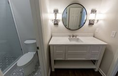 Master bathroom sink and mirror
