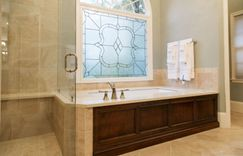 Master Bathroom window and bathtub