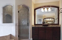 Master Bathroom remodel radius shower door
