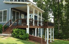 Deck made from all composite materials.