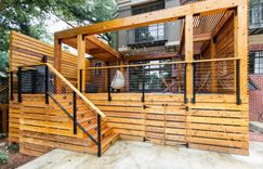 Arbor/pergola designed to give them as much shade as possible.