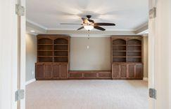 Custom basement built-in shelving