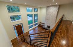 Open floorplan with a mid-century modern twist.
