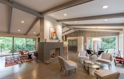 This unique mid-century modern ranch style home