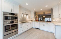 Kitchen remodel cabinet underneath lighting.