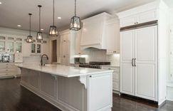 Kitchen remodel white cabinets.