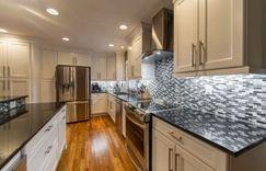 Kitchen remodel tile back stop